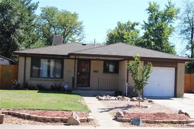 Aurora, Denver Single Family Home Under Contract: 3184 Vaughn Street