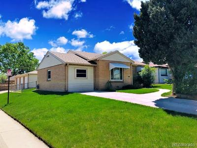 Denver Single Family Home Active: 2460 Pontiac Street