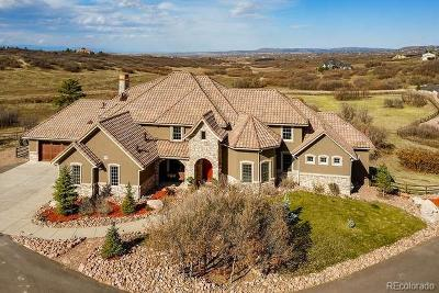 Castle Rock CO Single Family Home Under Contract: $2,940,000