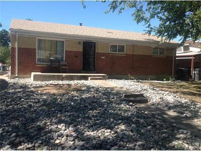Aurora, Denver Single Family Home Under Contract: 1345 Salem Street