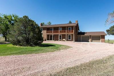 Elbert County Single Family Home Active: 10926 County Road 120