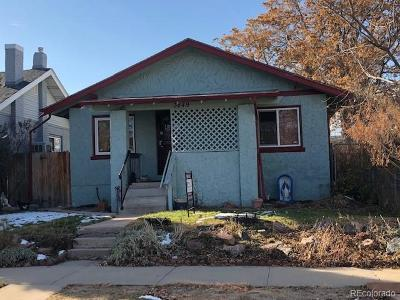 Denver Single Family Home Active: 3849 Vallejo Street