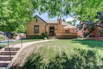 Denver Single Family Home Under Contract: 1390 Eudora Street