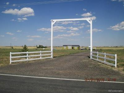 Arapahoe County Single Family Home Active: 1818 South County Road 185
