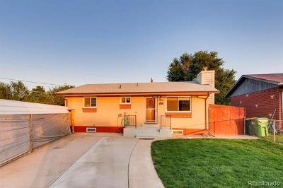 Commerce City Single Family Home Under Contract: 6660 Doris Court
