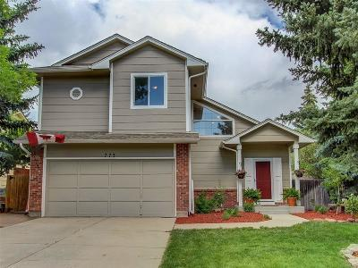 Castle Rock Single Family Home Under Contract: 773 Howe Street