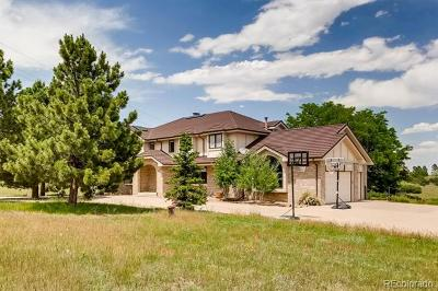 Castle Rock Single Family Home Under Contract: 9520 North Heather Drive