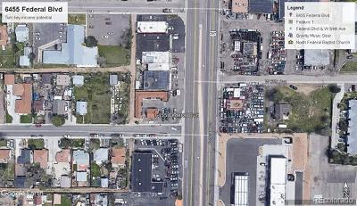 Denver Residential Lots & Land Active: 6455 Federal Boulevard