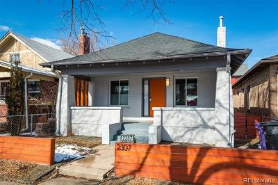 Denver Single Family Home Active: 2307 West 33rd Avenue