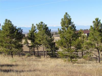 Parker CO Residential Lots & Land Active: $325,000