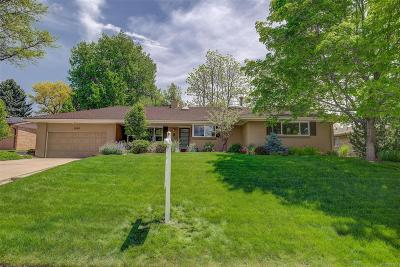 Denver Single Family Home Active: 3080 South Cook Street