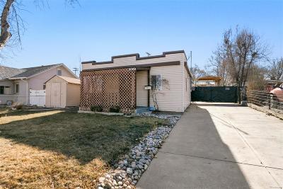 Denver Single Family Home Under Contract: 3082 West Center Avenue