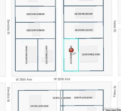 Denver Residential Lots & Land Active: 5023 West 30th Avenue