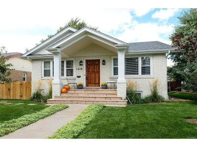 Denver Single Family Home Active: 1419 South Gaylord Street