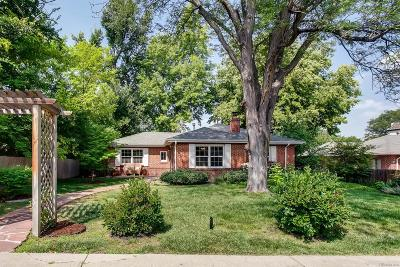Denver Single Family Home Under Contract: 835 Elm Street