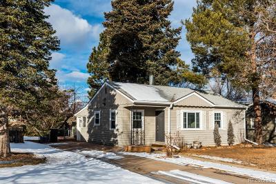 Denver Single Family Home Active: 3331 South Eudora Street