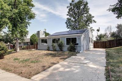 Denver Single Family Home Active: 1580 South Shoshone