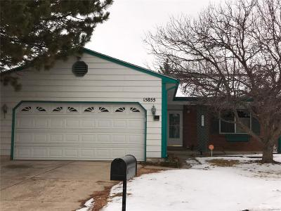 Aurora Single Family Home Under Contract: 15855 East Custer Drive