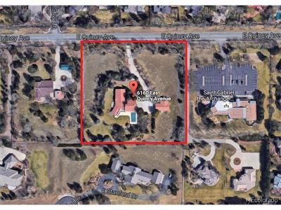 Arapahoe County Residential Lots & Land Active: 6160 East Quincy Avenue