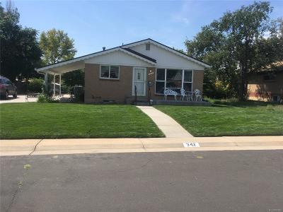Northglenn Single Family Home Under Contract: 342 Pike