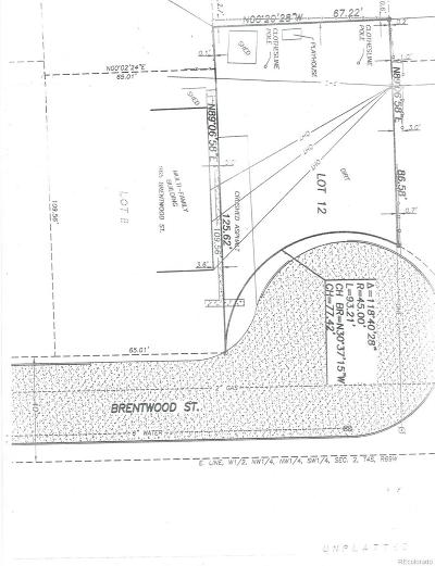 Residential Lots & Land Active: 975 Brentwood Street