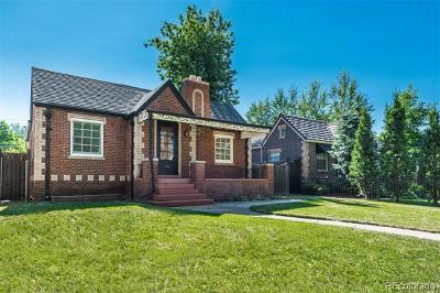 Denver Single Family Home Active: 1072 South University Boulevard