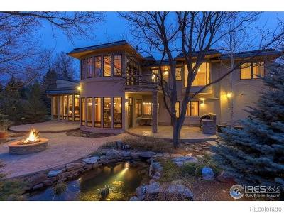 Boulder CO Single Family Home Active: $2,995,000