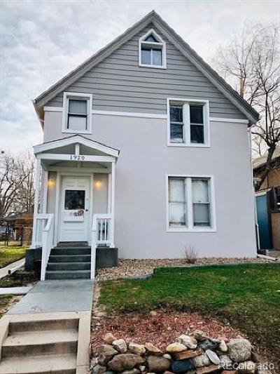 Denver Single Family Home Active: 1920 South Washington Street
