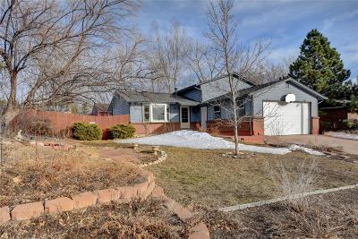 Castle Rock Single Family Home Under Contract: 968 Mountain View Drive