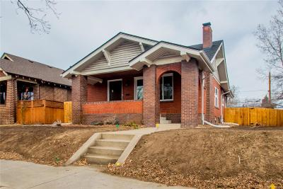 Denver Single Family Home Active: 3127 West 37th Avenue