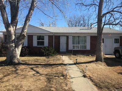 Aurora, Denver Single Family Home Under Contract: 5520 Shoshone Street