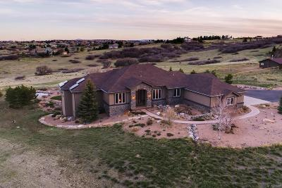 Castle Rock Single Family Home Under Contract: 8998 North Corral Lane