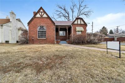 Denver Single Family Home Under Contract: 1300 Glencoe Street