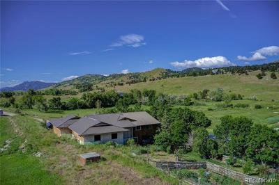 Boulder Single Family Home Active: 8417 North Foothills Highway