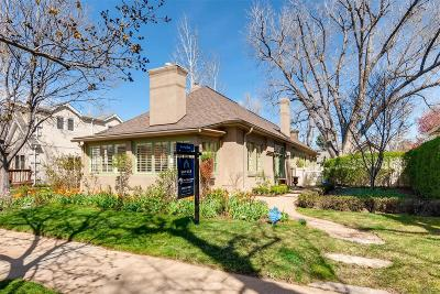 Single Family Home Under Contract: 1756 South Clarkson Street