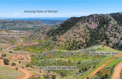 Jefferson County Residential Lots & Land Active: 22401 Golden Gate Canyon Road