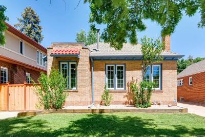 Denver Single Family Home Under Contract: 652 South Emerson Street
