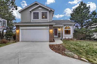 Monument Single Family Home Under Contract: 278 Candletree Circle