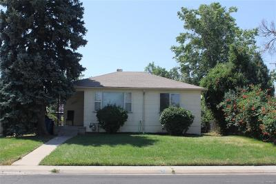 Aurora, Denver Single Family Home Under Contract: 10450 East 7th Avenue