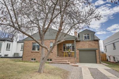 Denver Single Family Home Active: 2626 Tennyson Street