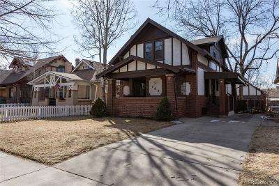 Denver Single Family Home Active: 753 South Downing Street