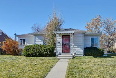 Denver Single Family Home Active: 867 South Raritan Street