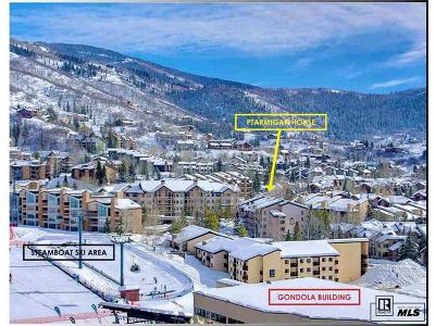 Steamboat Springs Condo/Townhouse Active: 2322 Apres Ski Way #32 #Ptarmiga