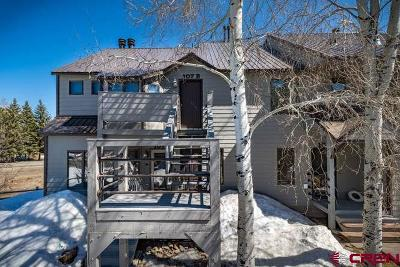 Pagosa Springs Condo/Townhouse For Sale: 60 Davis Cup Drive #107B