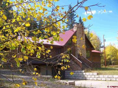 Del Norte Single Family Home For Sale: 11993 Castle Rock Road