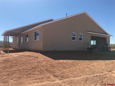 Cortez Single Family Home For Sale: 10405 Road 23.5 #Lot 7 Cr