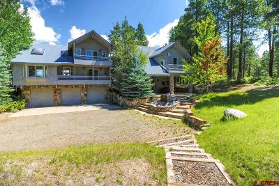 Pagosa Springs Single Family Home For Sale: 185 Steven's Lake