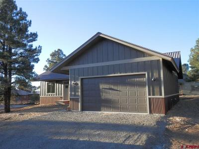 Pagosa Springs Single Family Home For Sale: 42 Woodward Drive