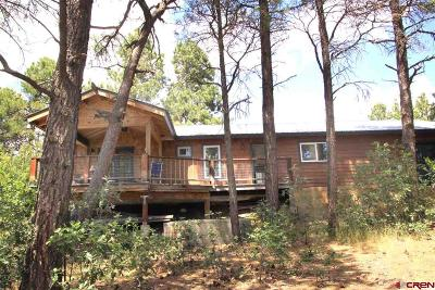 Pagosa Springs Single Family Home For Sale: 395 Pines