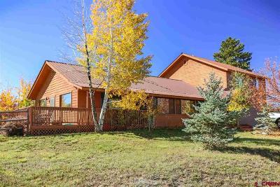 Pagosa Springs Single Family Home For Sale: 150 Morro Circle